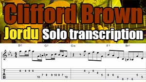 Clifford Brown jazz trumpet solo transcription for guitar