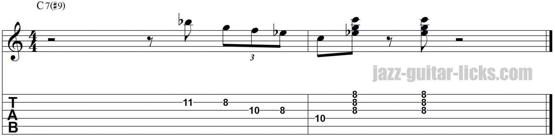 Kenny burrell jazz lick lesson