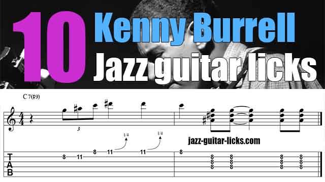 Kenny burrell jazz guitar licks