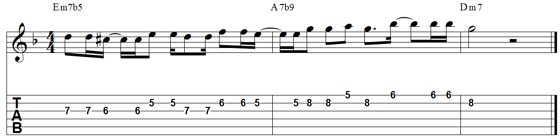 Kenny burrell minor 2 5 1 guitar lick