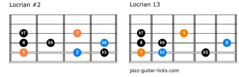 Locrian 2 mode vs locrian 13