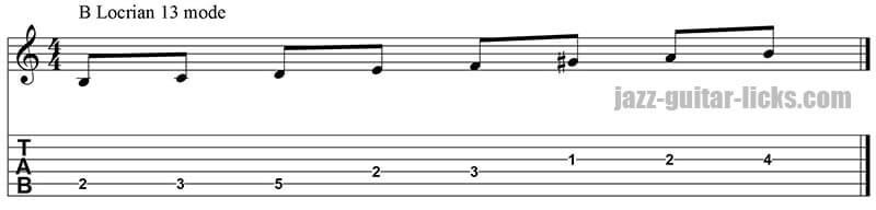 Locrian 13 mode guitar