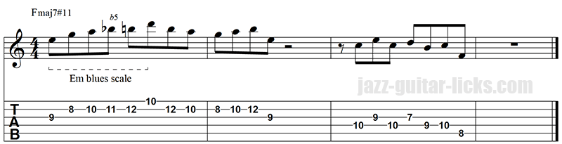 Lydian jazz line