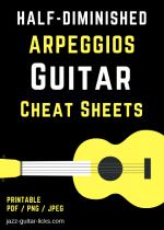 minor7b5 arpeggio cheat sheet for guitar 1