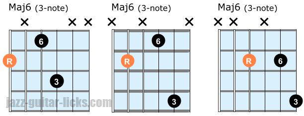 Maj6 chords guide tone chords