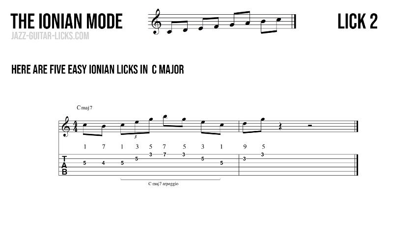 Major guitar lick2