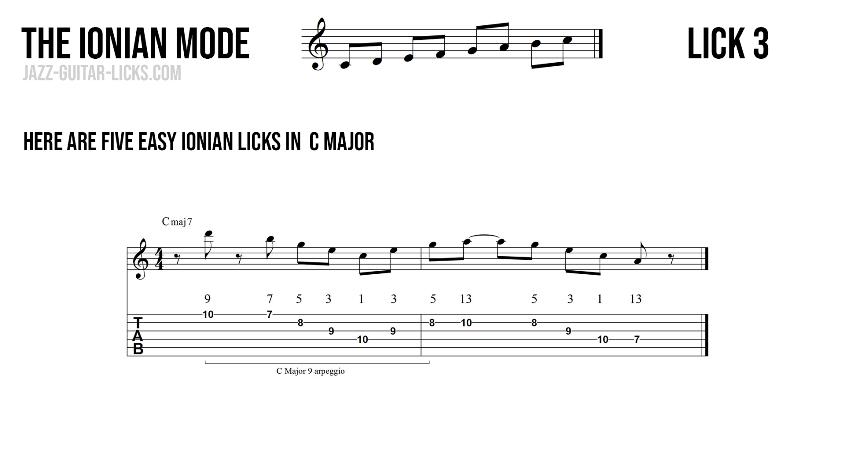 Major guitar lick3