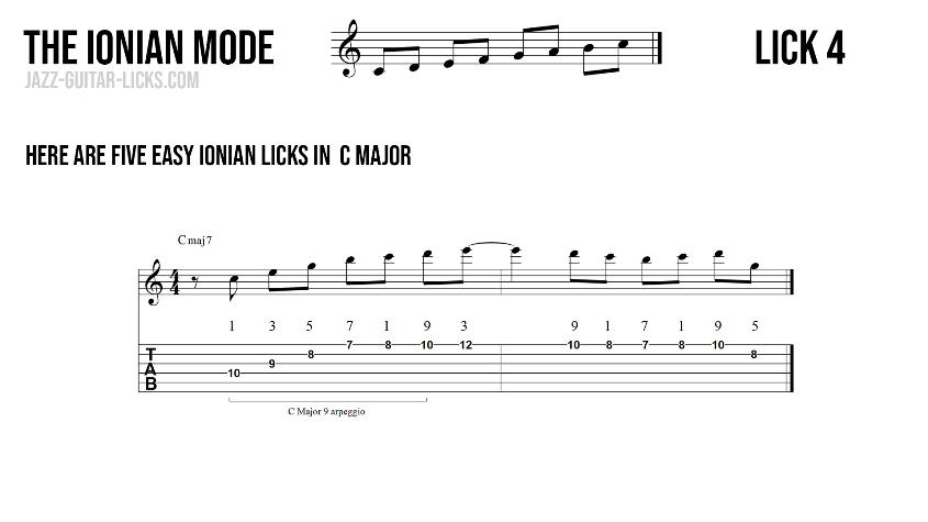 Major guitar lick4