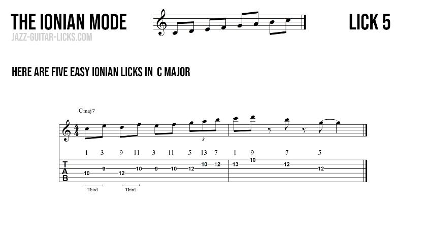 Major guitar lick5