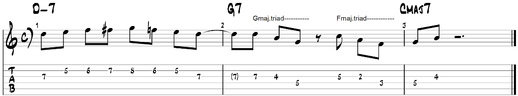 Major triad pairs guitar exercise 1
