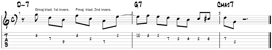 Major triad pairs guitar exercise 2