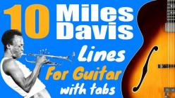 Miles davis guitar lines and tabs