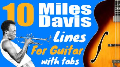 Miles davis guitar lines
