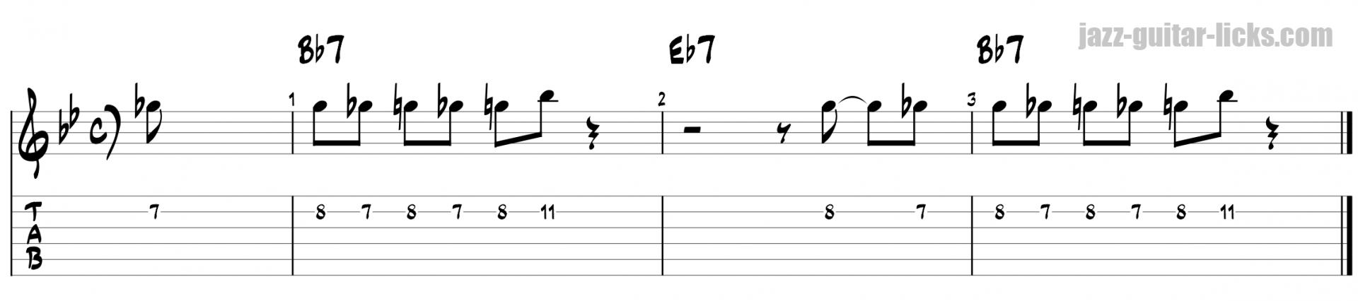 Miles davis jazz guitar line