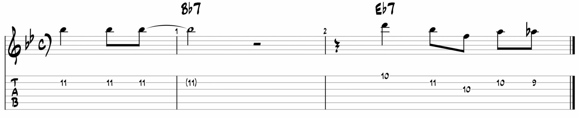 Miles davis blues guitar lick