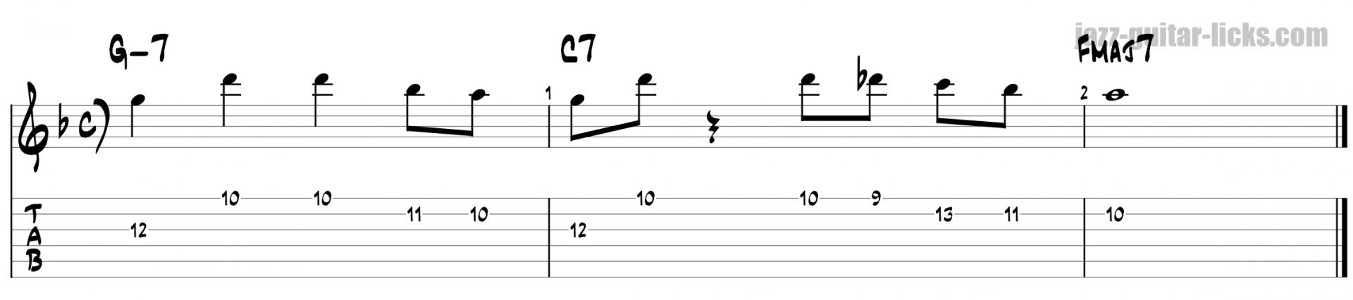 Miles davis jazz guitar lick