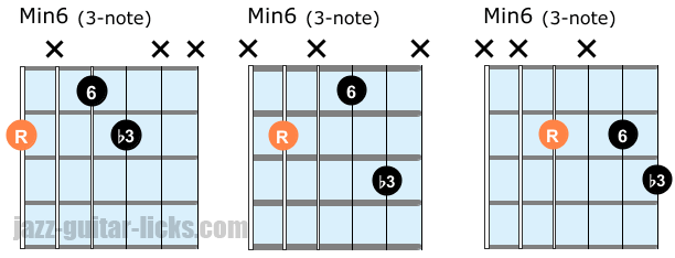 Minor 6 3-note chords