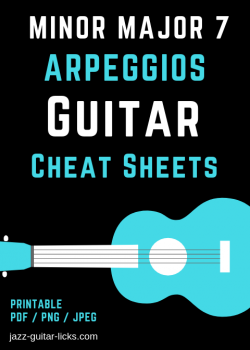 Minmajor7 arpeggio cheat sheet