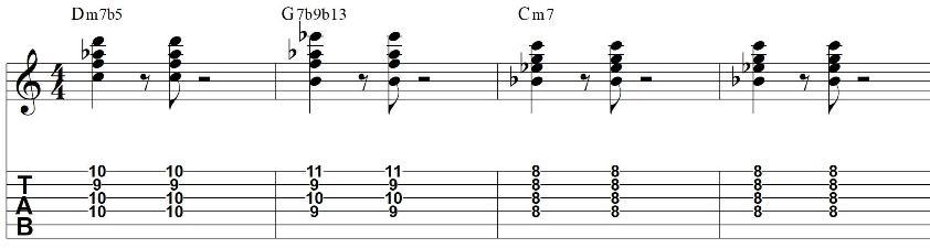Minor ii v i chord progression 2