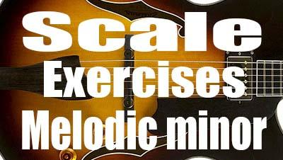 Minor scale guitar exercices