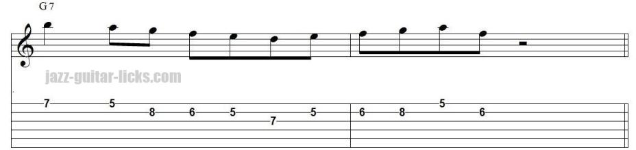 Mixolydian guitar exercise