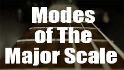 Modes of the major scale guitar lesson