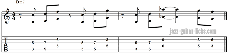 Octave lick for guitar