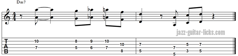 Octave jazz line for guitar