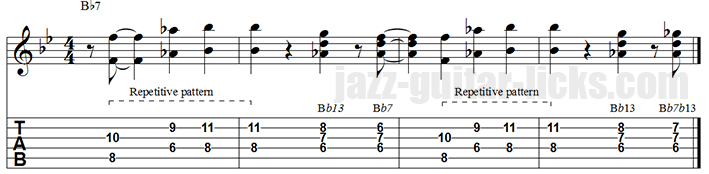 Octave lick jazz blues guitar