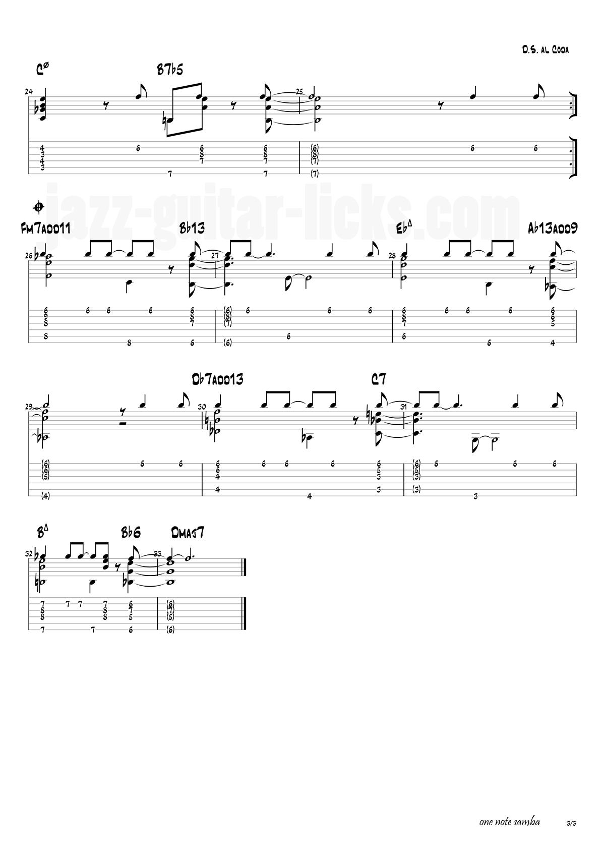 One note samba antonio carlos jobim 3