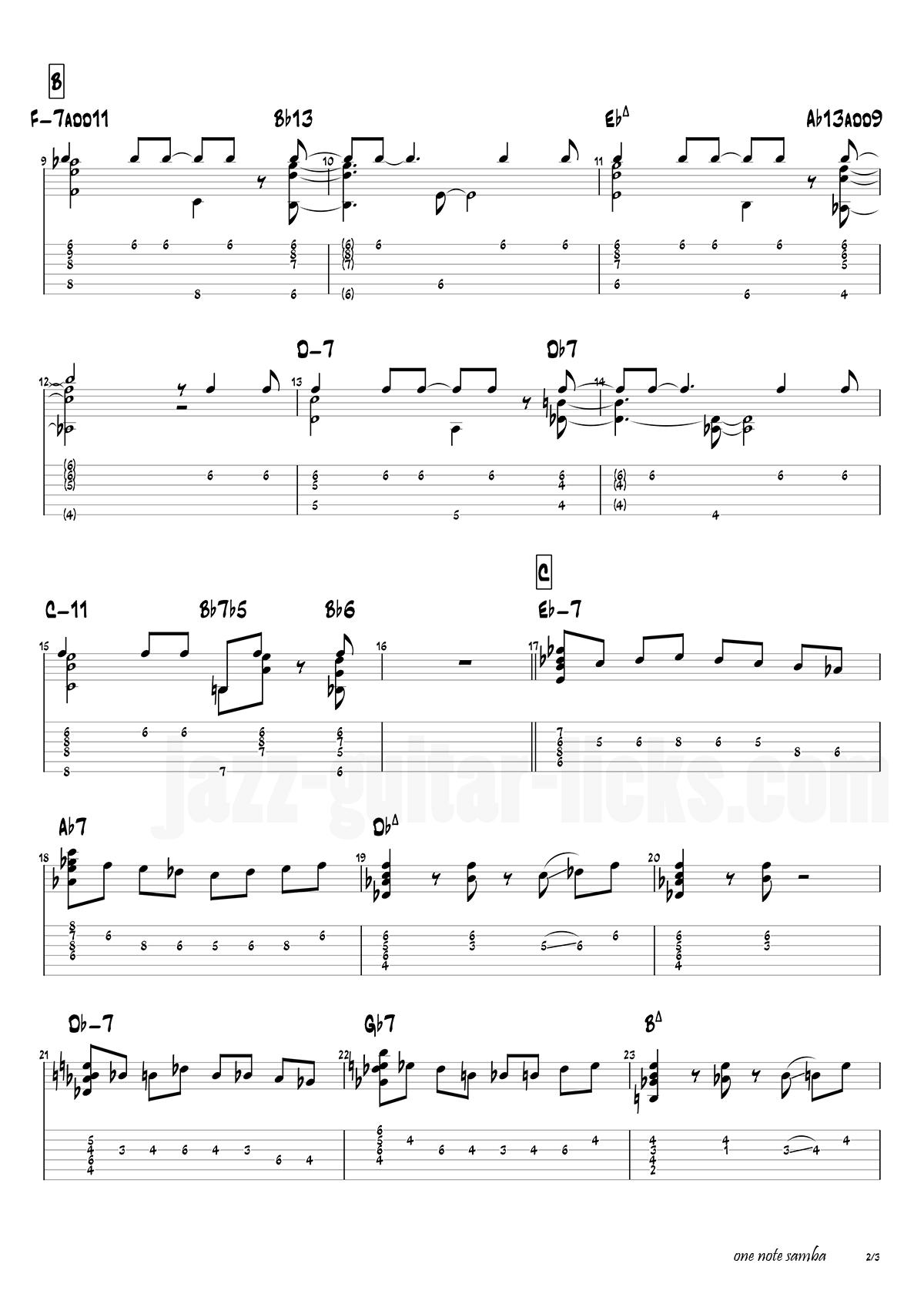 One note samba antonio carlos jobim 4