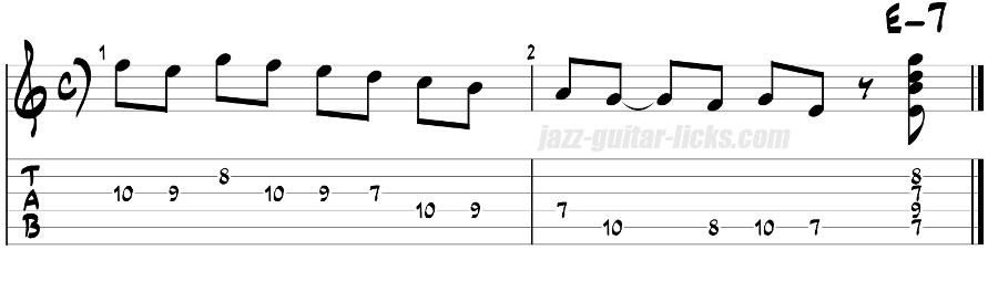 Phrygian guitar licks