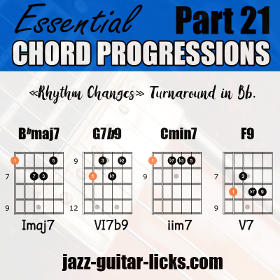 Rhythm changes chord progressions 21