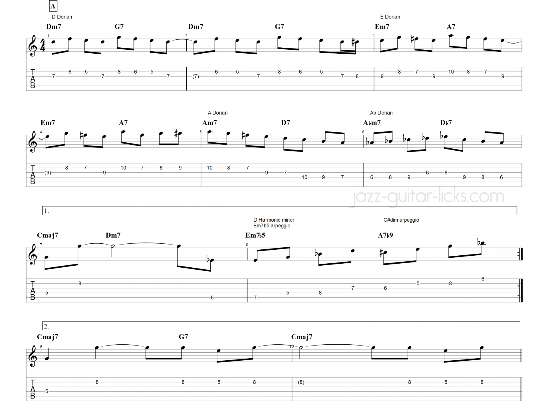 Satin doll guitar scales