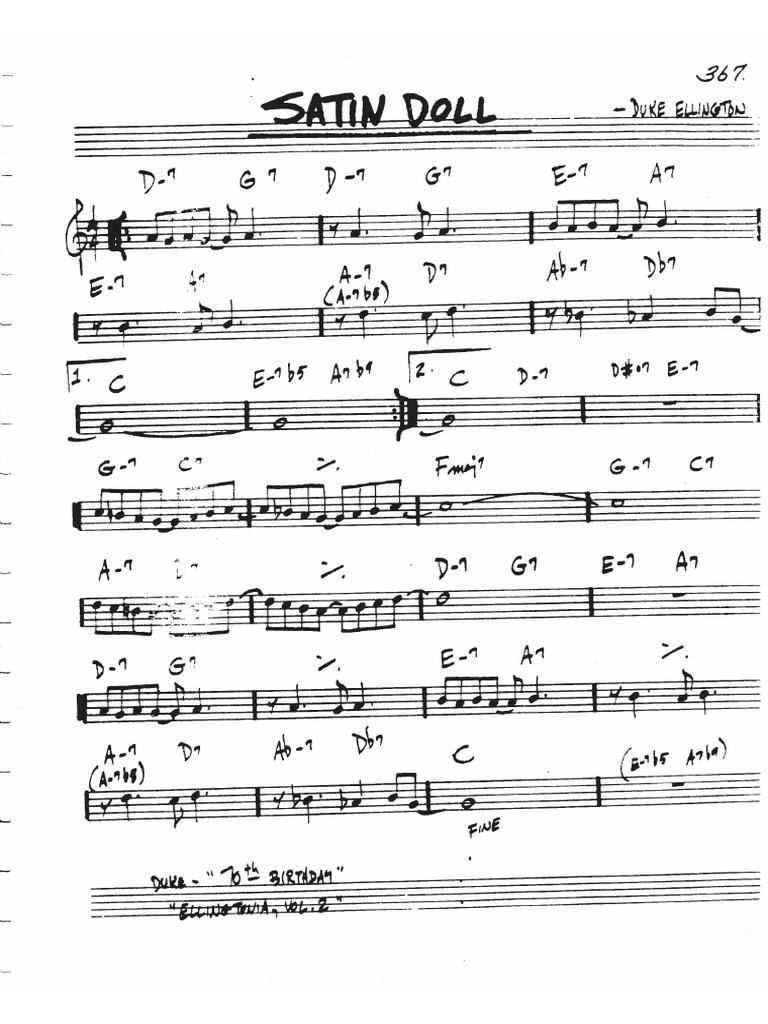 Satin doll sheet music
