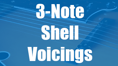 Shell voicings on guitar