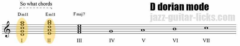So what chords and dorian mode