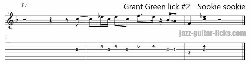 Sookie sookie grant green guitar lick 2