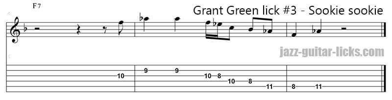 Sookie sookie grant green guitar lick 3