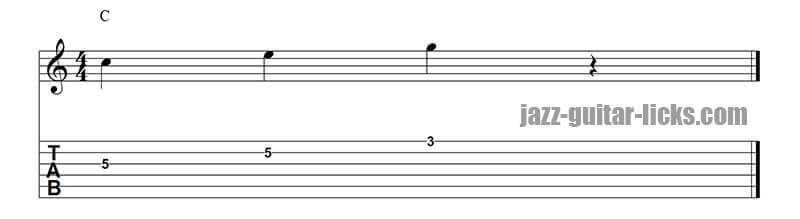 Targeting notes guitar lesson