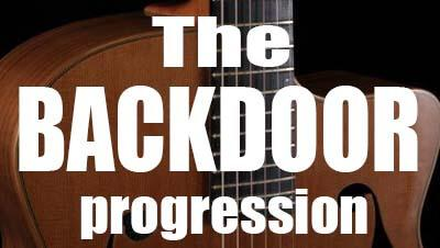 The backdoor progression jazz lesson
