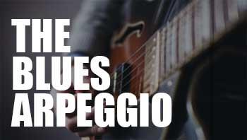 The blues arpeggio guitar lesson