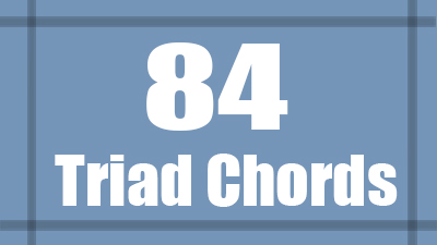 Triad chord shapes guitar
