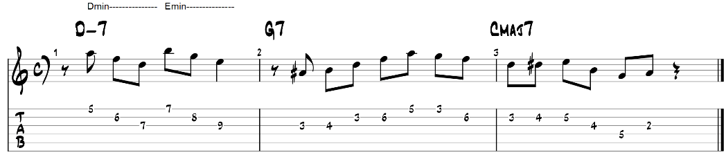 Triad pairs guitar exercise 1