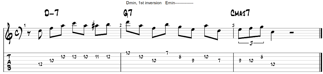 Triad pairs guitar exercise 2