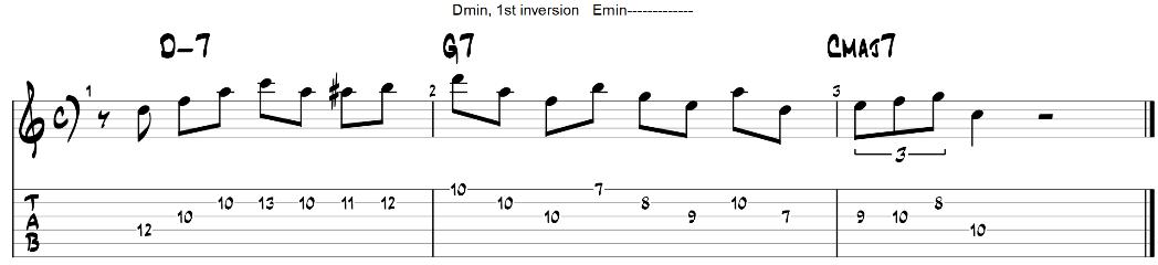 Exercice de guitare pour paires de triade 2