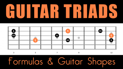 Triads on guitar