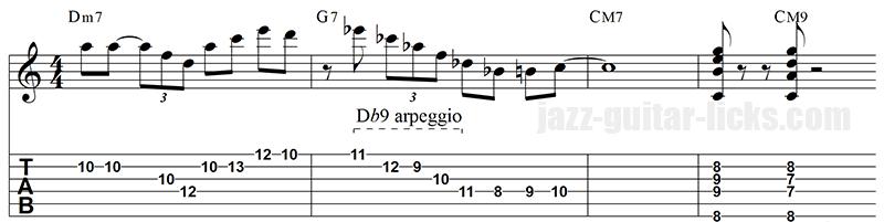 Tritone sub guitar ii v i
