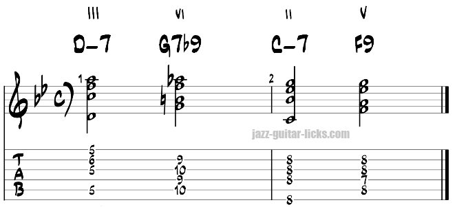 Turnaround tab for guitar exercise 9