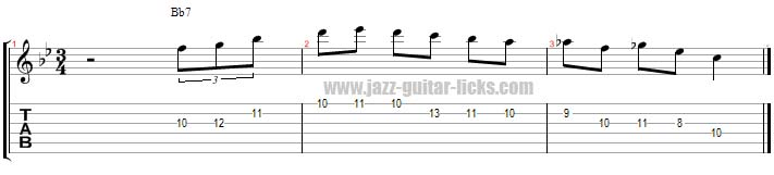 Wes montgomery dominant licks 3 page